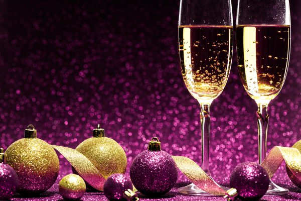 Champagne and baubles